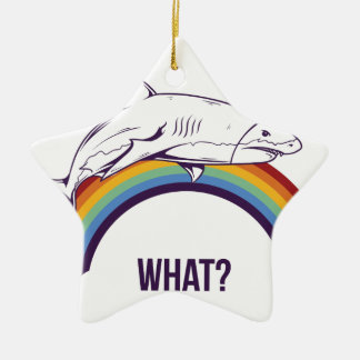 what, fish cool graphic design ceramic ornament