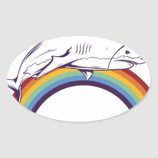 what, fish cool graphic design oval sticker