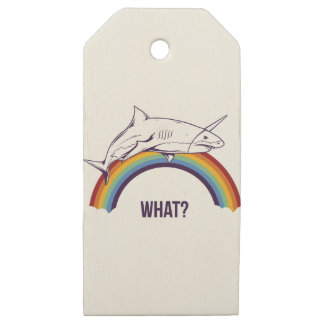 what, fish cool graphic design wooden gift tags