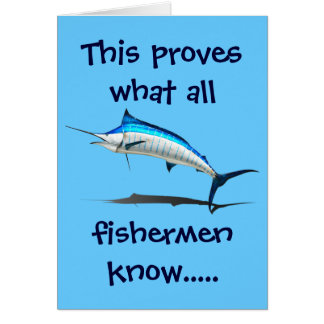 What Fisherman Know BLANK INSIDE Card