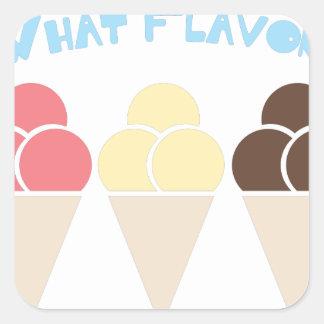 What Flavor Square Sticker