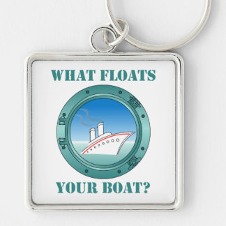 What Floats Your Boat Keychain