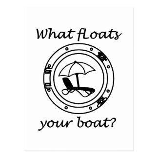 What Floats Your Boat Postcard