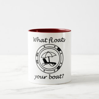What Floats Your Boat Two-Tone Coffee Mug