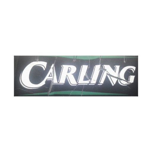 What Fosters and Zorro did to Carling Gallery Wrapped Canvas
