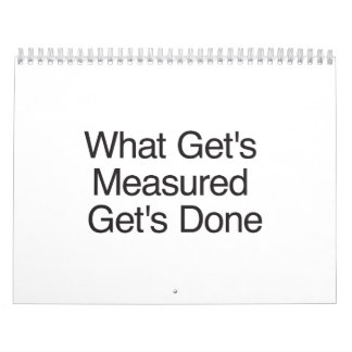 What Get's Measured Get's Done.ai Calendar