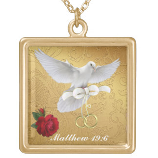 What God joins together  Neck Lace Gold Plated Necklace