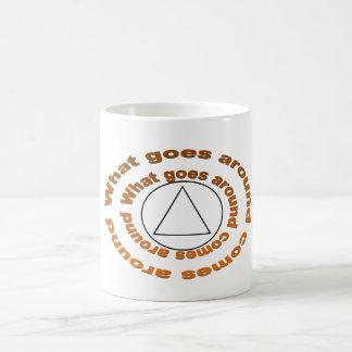 What goes around comes around classic white coffee mug