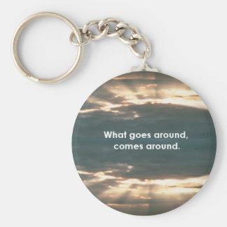 """""""What Goes Around Comes Around"""" Keychain"""