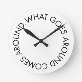 What Goes around Comes Around Pink Clock