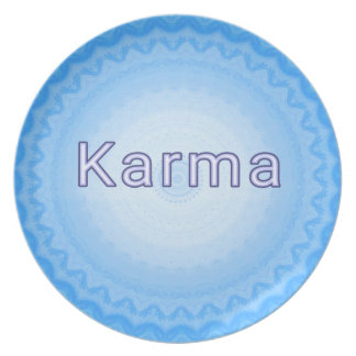 "What Goes Around...Soft Pastel Positive ""Karma"" Melamine Plate"