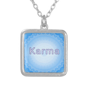 "What Goes Around...Soft Pastel Positive ""Karma"" Silver Plated Necklace"