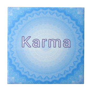 """What Goes Around...Soft Pastel Positive """"Karma"""" Tile"""
