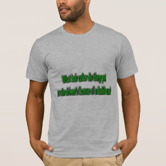 What Hair Color is on a Bald Mans Drivers License? T-Shirt