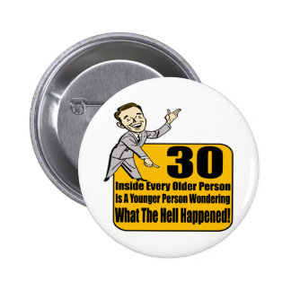 What Happened 30th Birthday Gifts Pinback Buttons
