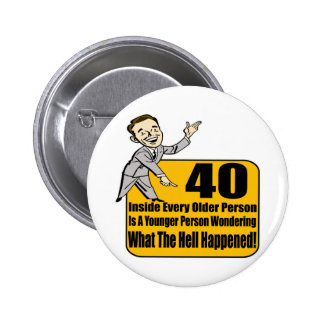What Happened 40th Birthday Gifts Buttons