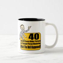 What Happened 40th Birthday Gifts Two-Tone Coffee Mug