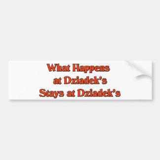 What happened at Dziadek's Stays at Dziadeks Bumper Sticker