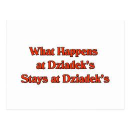 What happened at Dziadek's Stays at Dziadeks Postcard