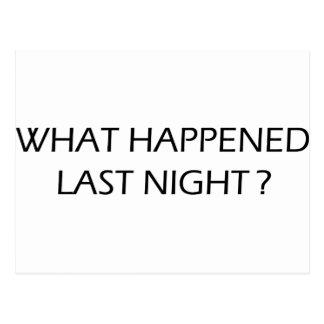 What Happened Last Night Post Card