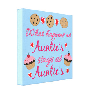 What happens at Auntie's Canvas Print
