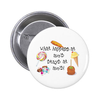 What Happens at Avo's STAYS at Avo's! Pinback Button