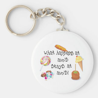 What Happens at Avo's STAYS at Avo's! Keychains