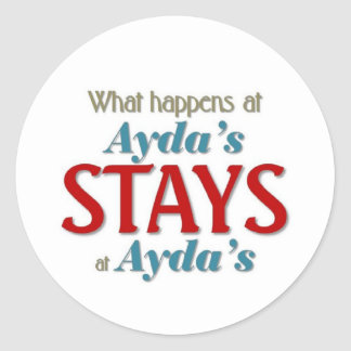 What happens at Ayda Classic Round Sticker