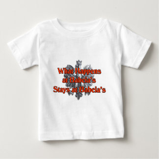 What happens at Babcia's Stays at Babcia's Baby T-Shirt