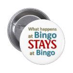 What happens at Bingo 2 Inch Round Button