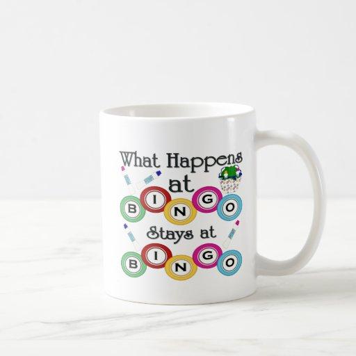 What Happens at Bingo Classic White Coffee Mug
