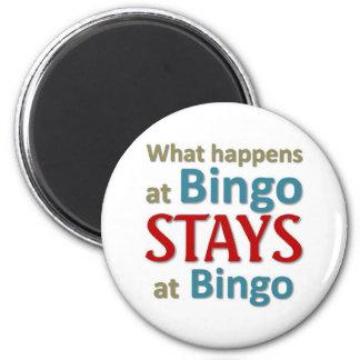 What happens at Bingo Fridge Magnets