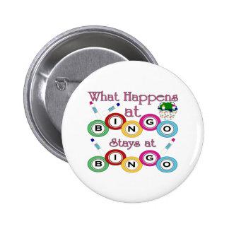 What Happens at Bingo Pinback Button