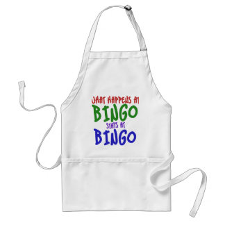 What happens at bingo stays at bingo adult apron