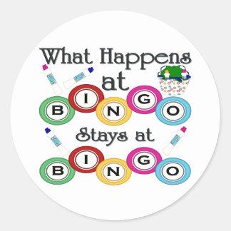 What Happens at Bingo Sticker