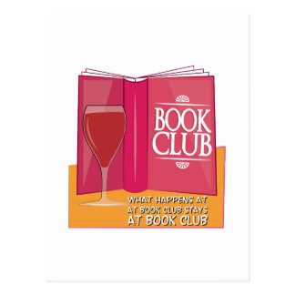 What Happens At Book Club Post Cards