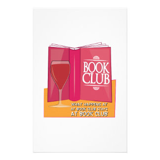 What Happens At Book Club Stationery Design