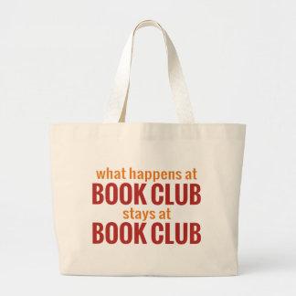 What Happens at Book Club Stays at Book Club Jumbo Tote Bag
