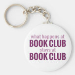 What Happens at Book Club Stays at Book Club Basic Round Button Keychain