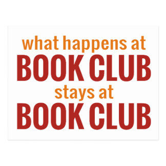What Happens at Book Club Stays at Book Club Postcard