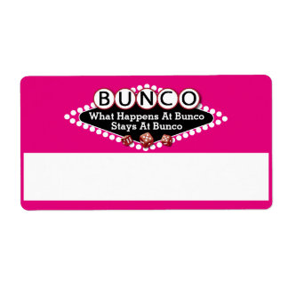 What Happens At Bunco Name Tags