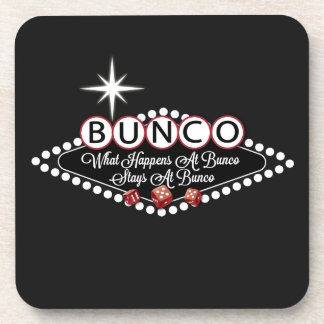 What Happens At Bunco Stays At Bunco Fun Beverage Coaster