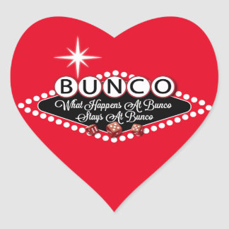 What Happens At Bunco Stays At Bunco Fun Heart Sticker