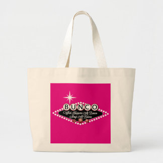 What Happens At Bunco Stays At Bunco Fun Large Tote Bag