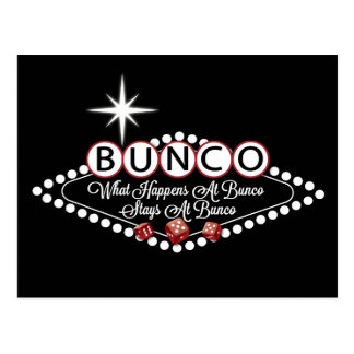 What Happens At Bunco Stays At Bunco Fun Postcard