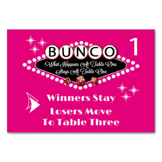 What Happens At Bunco Table Card #1