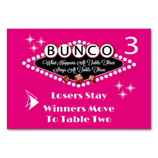 What Happens At Bunco Table Card #3