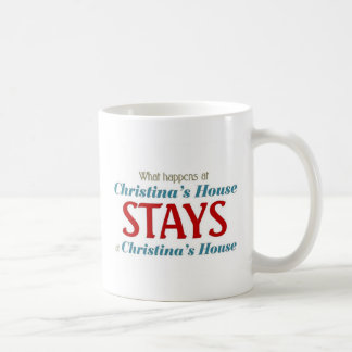 What happens at christina's house coffee mug