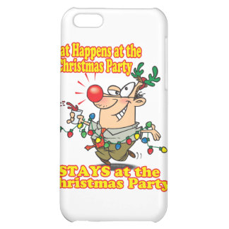 what happens at christmas party stays iPhone 5C cover