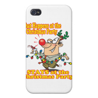 what happens at christmas party stays iPhone 4 cover